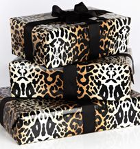 animal wrap with black bows