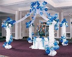 Miami dolphins arch balloons miami for Balloon decoration in pune
