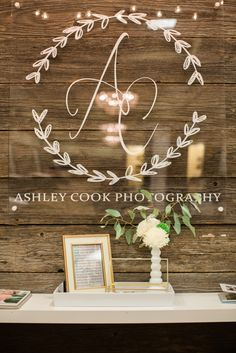My wedding showcase booth! My logo! www.ashleycookphotography.com