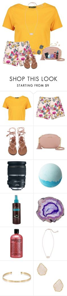 """~~"" by taybug2147 ❤ liked on Polyvore featuring Boohoo, MICHAEL Michael Kors, Disney, Victoria's Secret, philosophy, Kendra Scott, Ileana Makri and Ray-Ban"