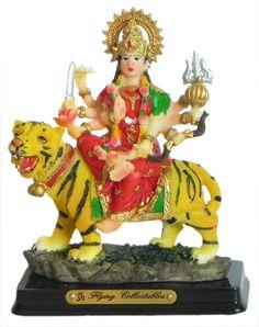 Vaishno Devi (Poly Resin) Vaishno Devi, Mata Rani, Mother Goddess, Durga Maa, Hindus, Resin, Statue, Christmas Ornaments, Christmas Jewelry