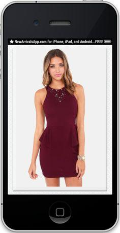 Gem Fatale Beaded Burgundy Dress from LuLu*s...