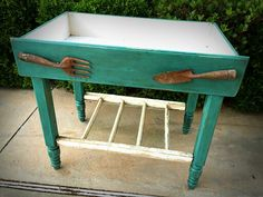 Vintage drawer planter box with old window shelf by InsideOut Salvage & Restoration, $185