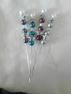 Pick up these Handmade Beaded Stick Pin by Pinque Peacock