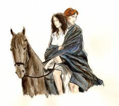 Outlander - Jamie and Claire by LittleSeaSparrow.deviantart.com on @DeviantArt