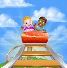 Roller Coaster Amusement Park