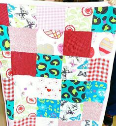 Patchwork fever in the classroom, every pupil 42 patches, nummered, ( in rows)   very stressfull sometimes...
