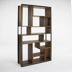 "metal and wood bookcase (HD Buttercup) Dimension 46"" w x 14"" d x 82"" h."