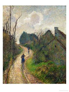 Ascending Path in Osny 1883 - Camille Pissarro