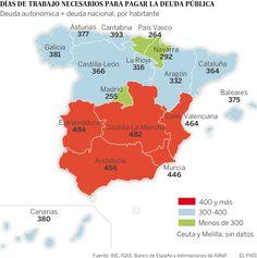 Cada español tendría que dedicar un año entero de trabajo para pagar la deuda…