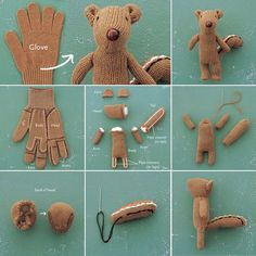 glove to beaver-teddy. Have to try this.