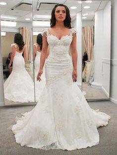 Long Mermaid wedding dress,Latest wedding dress,Open Back wedding dress,Lace Sexy Custom Wedding Dress,WD17169