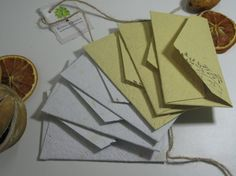 6 mini envelopes with blank cards/ fall cards/ by RusticandSimple