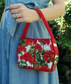 Flower Basket Bag  DIY Crochet and Fabric Purse by 7YellowDaisies, $55.00