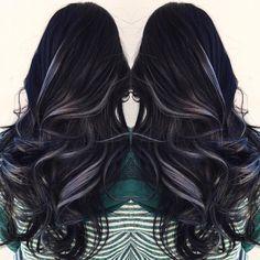 Gun metal gray and black ⚫️🌑🎨 #hair #haircut #hairking #hairlove #hairporn #hairpost #haircolor #hairstyle #hairtip #hairbydoug #hairbrained #hairstylist #balayage #balayagecolor #ombre #ombrehair #salon5150 #brea #trim #healthy #long #beautiful #modernsalon #btcpics #behindthechair #dougoconnell #angelofcolour #hairdressermagic #americansalon #1minutehair