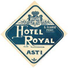 Asti - Hotel Royal by Luggage Labels by b-effe, via Flickr