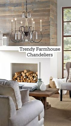 Modern Farmhouse Lighting, Country Farmhouse Decor, Industrial Farmhouse, Farmhouse Chic, Quoizel Lighting, Progress Lighting, Entryway Tables, Living Spaces, Dining Room
