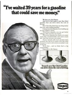 Texaco ad featuring Jack Benny (1968)
