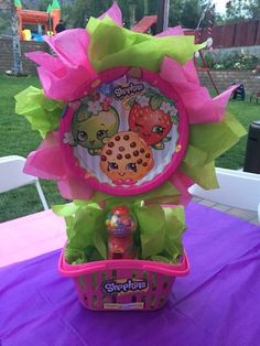 Shopkins centerpieces