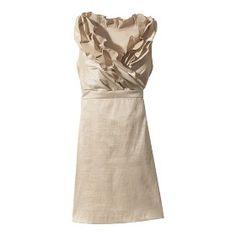 v-neck ruffle dress. target.