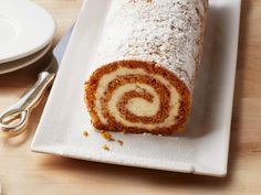 Pumpkin Roulade with Ginger Buttercream Recipe : Ina Garten : Food Network Food Network Canada, Buttercream Recipe, Pumpkin Dessert, Pumpkin Cakes, Pumpkin Pumpkin, Pumpkin Puree, Pumpkin Recipes, Pumpkin Dishes, Thanksgiving Recipes