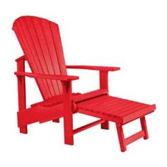 Check out the CR Plastic F03 Generations Upright Adirondack Chair Pull Out Footstool priced at $159.99 at Homeclick.com.