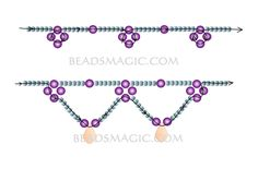 Free pattern for necklace Corina - 2 U need: seed beads 11/0 pearls 8 mm crystal drops