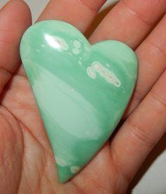 Variscite Stone Heart by earthlightgems on Etsy