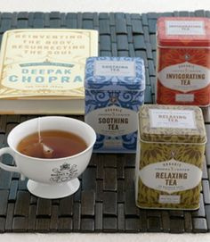 Tea is the perfect hostess gift - especially those that come from the far reaches of Earth.  The Chopra Center Gift w/ Book By Deepak Chopra will give  even the most discerning tea drinkers a delight.  The book adds a special element of thought and makes this the perfect gift for many.