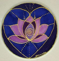 Sacred heart mandala lotus mandala heart от HeavenOnEarthSilks