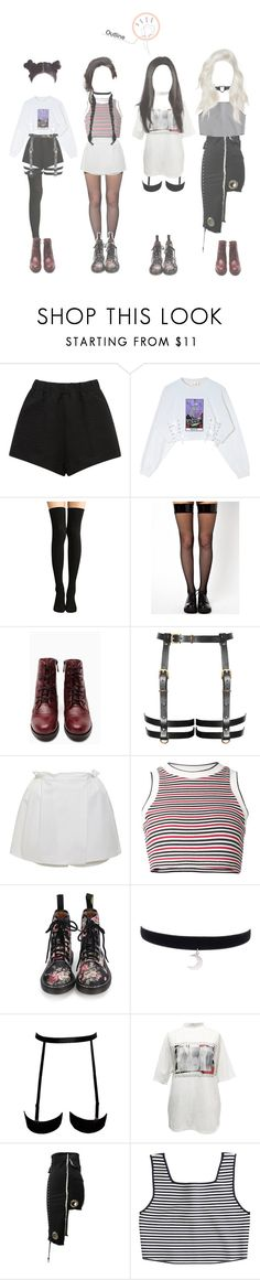"""""""Outline Performance"""" by mama-awards ❤ liked on Polyvore featuring E L L E R Y, Leg Avenue, Shoe Cult, Cacharel, UNIF, M.Y.O.B. and Apiece Apart"""