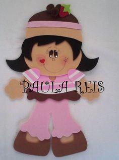 Fofuchas Eva e Cia: Molde Menina Cupcake Moranguinho