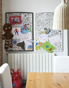 artwork boards made from tidny ikea fabric