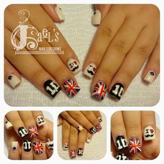 One Direction Nail Designs Wonderful One Direction Nails, One Direction Merch, Cute Nail Art, Cute Nails, Pretty Nails, Fabulous Nails, Perfect Nails, Nail Polish Designs, Nail Art Designs