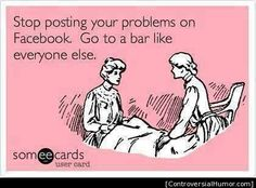 Lol.. The good ol' world of Fakebook. Another reason to stay off of it!
