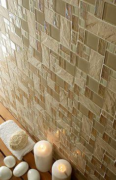 Mineral Tiles - Slate Glass Tile French Pattern Sand, $17.95 (http://www.mineraltiles.com/slate-glass-tile-french-pattern-sand/)