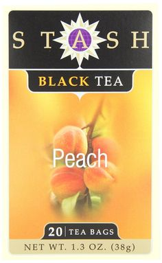 Stash Tea Peach Black Tea, 20 Count Tea Bags in Foil (Pack of 6) -- Additional details at the pin image, click it @ : Fresh Groceries