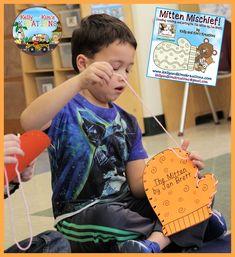 {reading, retelling & writing for The Mitten by Jan Brett} Journeys Kindergarten, Kindergarten Language Arts, Kindergarten Literacy, Literacy Bags, Literacy Activities, Winter Activities, Prep Book, Jan Brett, Reading Response