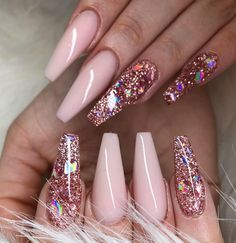 30 Adorable Nail Art Designs of 2019 Let mama cook delicious cookies. You just sit back and Adorable Nail Art Designs of Ballerina Nails in Muted ColorsThis Cute Pink Nails, Pink Glitter Nails, Pink Nail Art, Pastel Nails, Coffin Nails Glitter, Glitter Dress, Fabulous Nails, Perfect Nails, Gorgeous Nails