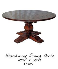 Rustic round dining table @ Rowan