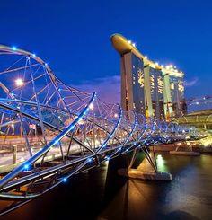 The Helix Bridge, Singapore - more bridges to walk on.