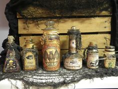 Vintage and New APOTHECARY POTION BOTTLES by WhimsicalWondersdb