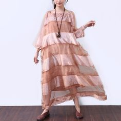 Loose Casual Stripe Short Sleeves Women Yellow Dress Casual Dresses For Women, Clothes For Women, Cotton Vest, Stripes Fashion, Types Of Collars, Striped Shorts, Yellow Dress, Short Sleeves, How To Wear