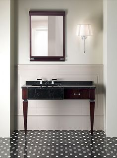 Devon&Devon, an Italian interior-design brand, offers exclusive, comprehensive and coordinated solutions in a contemporary-classic style for the bathroom and beyond. Interior Design Brand, Vanity, Bathroom Style, Metal Decor, Mahogany Stain, Vanity Units, Devon Devon, Man Bathroom, Luxury Interior Design