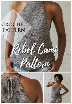 Patterns for Black History Month 2019 Rebel Cami tank top crochet pattern. I love this casual summer crochet top perfect to pair with cut offs or jeans! # The post Patterns for Black History Month 2019 appeared first on Yarn ideas. Crochet Skirt Pattern, Crochet Jacket, Top Pattern, Knit Crochet, Crochet Sweaters, Crochet Woman, Baby Sweaters, Crotchet, Crochet Baby