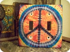 Peace Double Light Switch Cover by peacelovecreations on Etsy, $12.00