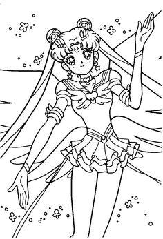 Free Printable Sailor Moon Coloring Pages For Kids Find This Pin And More