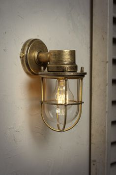 The Ship's Outdoor Light in Antiqued Brass