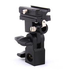 Generic Flash Bracket Swivel Umbrella Holder Studio Tilting Bracket for Nikon Canon E430 E580 SB600 SB800 SB900 Bracket B