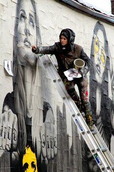 "Fin DAC x Angelina Christina ""The Velveteens"" New Street Art - Brooklyn, New York City"
